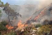 Kazdağları'nda çöplük yangını