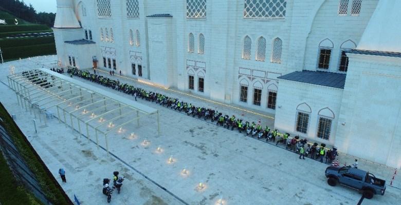 Motosikletliler Binali Yıldırım'a destek ve teşekkür korteji