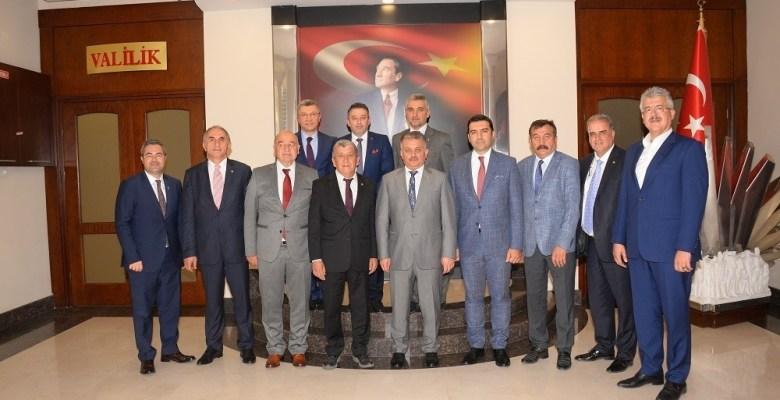 Ticaret Odası Başkanları Vali Yazıcı'yı ziyaret etti