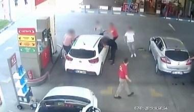 Polis hırsızları benzin istasyonunda yakaladı
