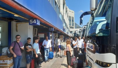 15 Temmuz Demokrasi Otogarı'nda arefe günü yaşanan yoğunluk havadan görüntülendi