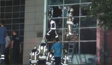 Kanuni Sultan Süleyman Hastanesinde çıkan yangın kontrol altına alındı