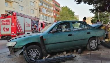 Kazaya karışan LPG'li araç korkuttu