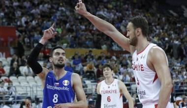 A Milli Basketbol Takımı, Dünya Kupası E Grubu 3. maçında Çekya'ya 91-76 mağlup olarak turnuvaya veda etti.