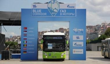 Büyükşehir otobüsleriyle 'Mavi Koridor Rallisine' katıldı