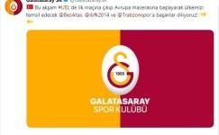 Galatasaray'dan Beşiktaş, Başakşehir ve Trabzonspor'a destek