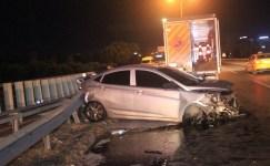 Makas atan sürücü trafik kazasına neden oldu