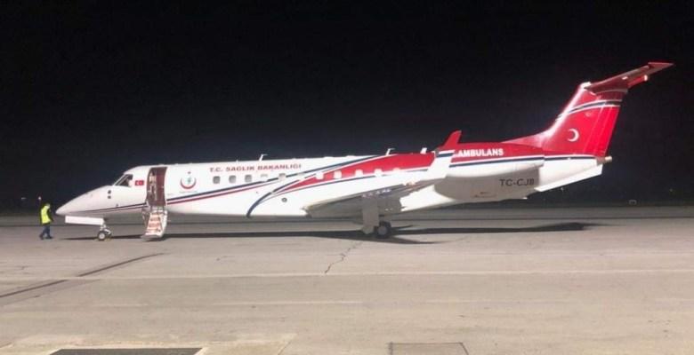 Vekil devreye girdi, jet uçak Türk hastalar için havalandı