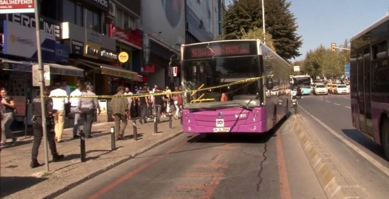 Beşiktaş'ta özel halk otobüsü üniversite öğrencisine çarptı