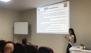 Körfez Belediyesi personeline iş güvenliği eğitimi