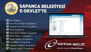 Sapanca Belediyesi E-Devlet Sistemi üzerinden hizmet vermeye başladı