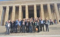Yörükler Anıtkabir'den Mehmetçiğe asker selamı ile destek çıktı