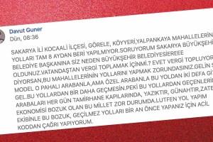 Sakarya Büyükşehir'e acil koddan çağrı yaptı