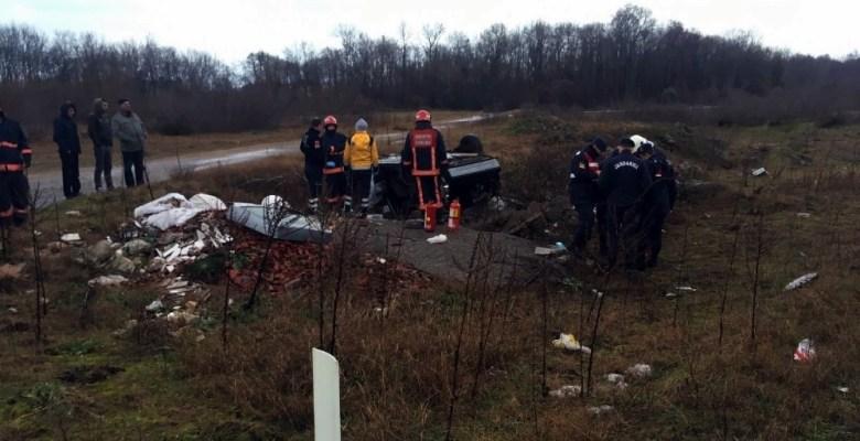 Sakarya'da kontrolden çıkan otomobil takla attı: 1 ölü