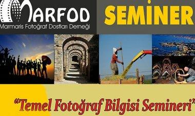 8 Mayıs 2019 Çarşamba günü başlayacak olan seminer Armutalan Kültür Merkezi M.Kamil Dürüst Fotoğraf Evin de düzenlenecek.