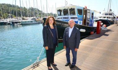 DenizTemiz Derneği-TURMEPA Yönetim Kurulu Başkanı Şadan KaptanoğluveD-Marin Yönetim Kurulu Üyesi Erdem Altan