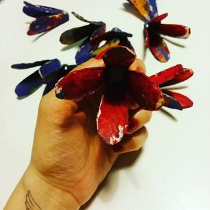 fleur en boite d'oeufs by Zoé 1