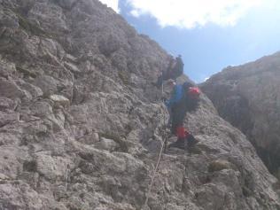 AV2: via ferrata on the way to rifugio Mulaz