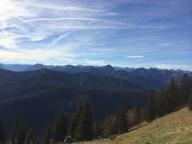 Mountain ridges in autumn