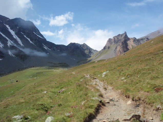 Looking towards the Pas de Chèvre and it's ladders from val d'Hèrens