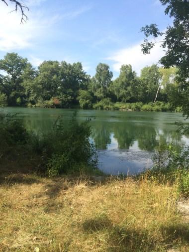 The river Isar near Landshut