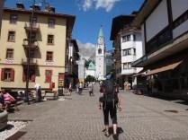 The town centre in Cortina d'Ampezzo