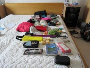 All equipment for the Haute Route trek