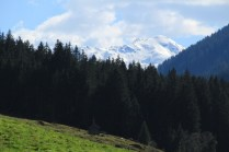 A snow covered Alpine peak in late spring