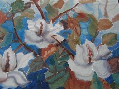 zijdesjaal schilderen in stappen