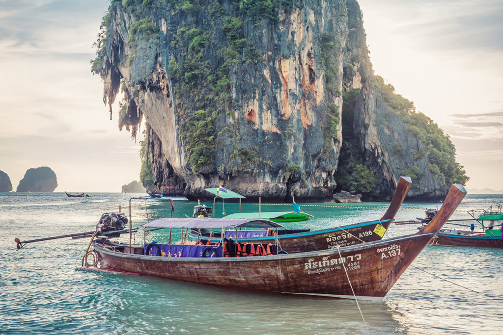 Phuket boat on water