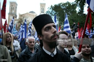Golden Dawn members and supporters held a rally in Athens, Greece on May 29, 2017 to commemorate the conquest of Istanbul from the Ottoman Turks, on 29 May 1453. (Photo by Giorgos Georgiou/NurPhoto)