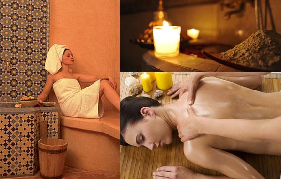 Hammam, Gommage et Massage aux huiles essentielles: Dorlotez-vous à seulement 180dhs au lieu de 360 chez Taj Addoha Spa!