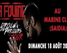La Fouine au Maroc: Rendez-vous au Marine Club Saidia le dimanche 18 Août et économisez 200dhs sur le prix du billet!