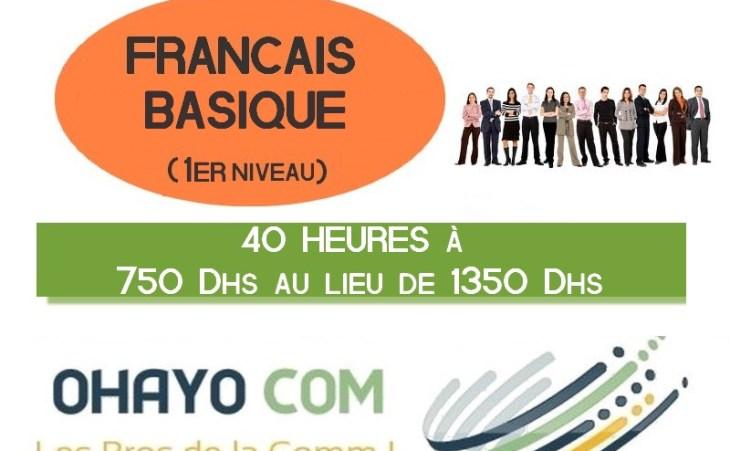 Venez acquérir les bases du français grâce à cette formation de 40H !