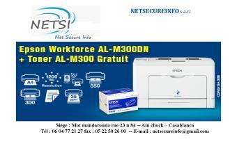 Imprimante EPSON workforce AL-M300DN + Toner Gratuit !! *LIVRAISON GRATUITE**