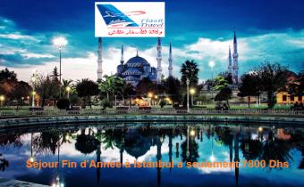 Séjour Fin d'Année & Réveillon à Istanbul à seulement 7800 Dhs