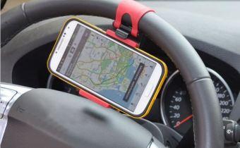Support Téléphone pour volant voiture