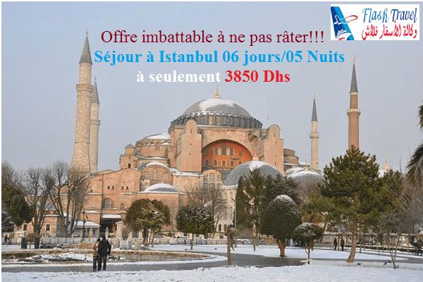 Istanbul en Hiver avec Flash Travel Agency à 3850 Dhs