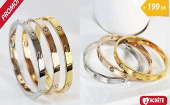 3 Bracelets de luxe en plaqué Or/platine Modifier
