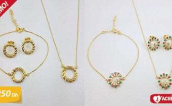 Ensemble bijoux de luxe en solde – Stock limité