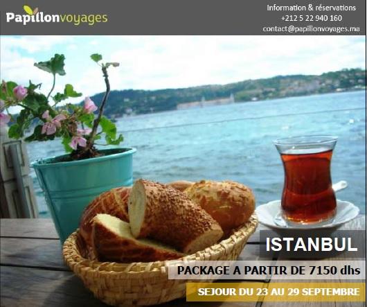 ISTANBUL PACKAGE A PARTIR DE 7150 DHS, DEPARTS LES 23 ET 29 SEPTEMBRE