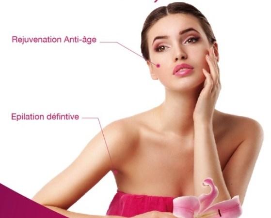 Epilation radicale a la lumiere pulsee visage et aisselles à 300 DH