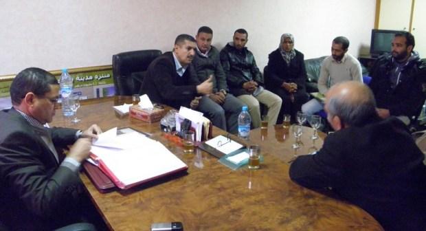 اجتماع مع ممثلي الباعة المتجولين بابن جرير برئاسة رئيس المجلس الحضري