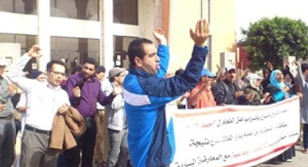 قافلة تضامنية مع المطرود أحمد الفشتات