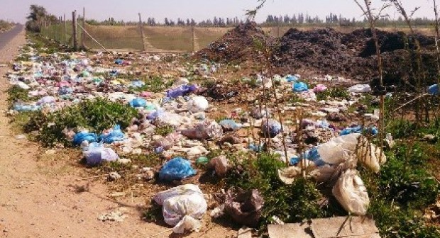اشتوكة : مطرح عشوائي خطير يلوث البيئة بالجماعة القروية انشادن