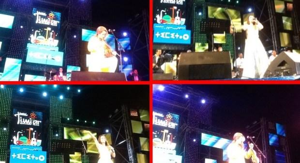 اسدال الستار على فعاليات مهرجان تيميتار على ايقاع انغام ديانا حداد وزينة الداودية