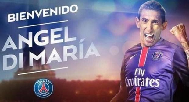 رسميًا: دي ماريا يوقع مع باريس سان جيرمان حتى 2019أعلن نادي باريس سان جيرمان