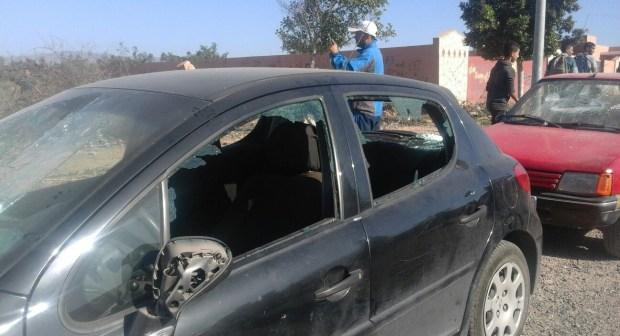 اصابات وخسائر مادية إثر خسارة حسنية أكادير أمام الوداد / صور حصرية