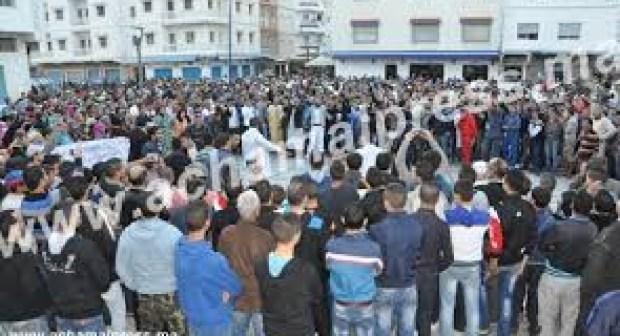 احتجاجات و تظاهرات طنجة ضد أمانديس على الجزيرة