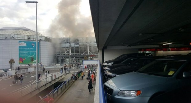 انفجار فى مطار العاصمة البلجيكية بروكسل اليوم 22 – 3 – 2016